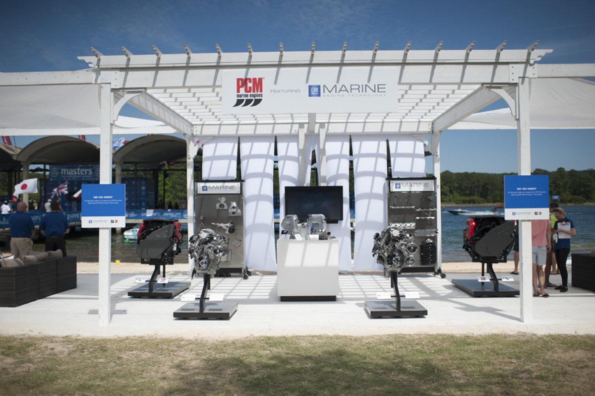 The GM display at the Masters Water Ski & Wakeboard tournament.