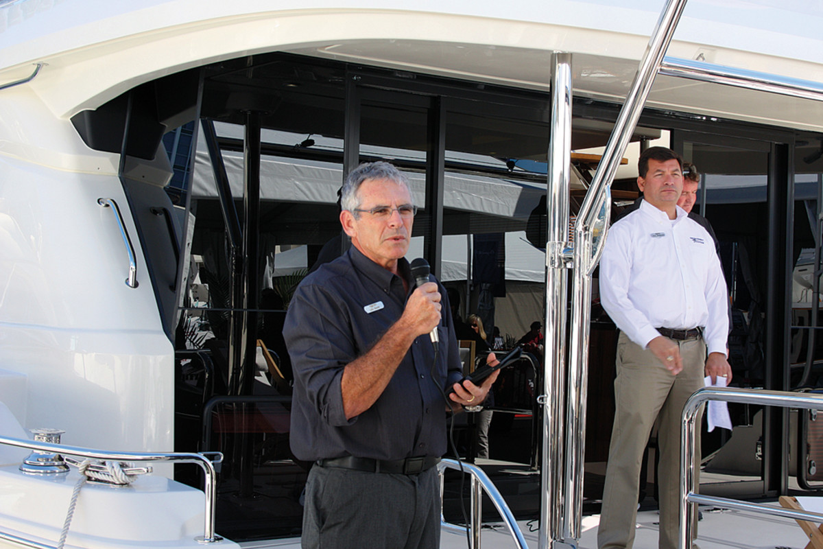 MarineMax Vacations president Lex Raas speaks of the division's growing power catamaran charter fleet.