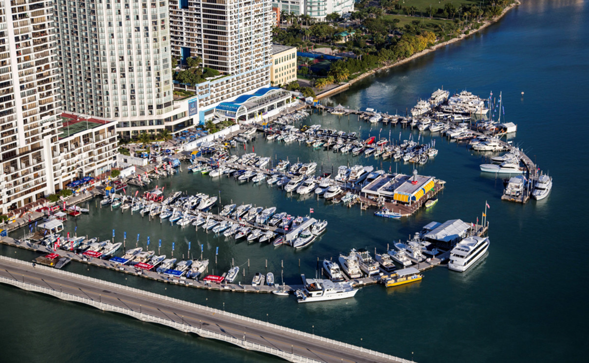 Miami International Boat Show exhibitors say the number of serious buyers was up at the Sea Island Marina in-water display and the show's other venues.