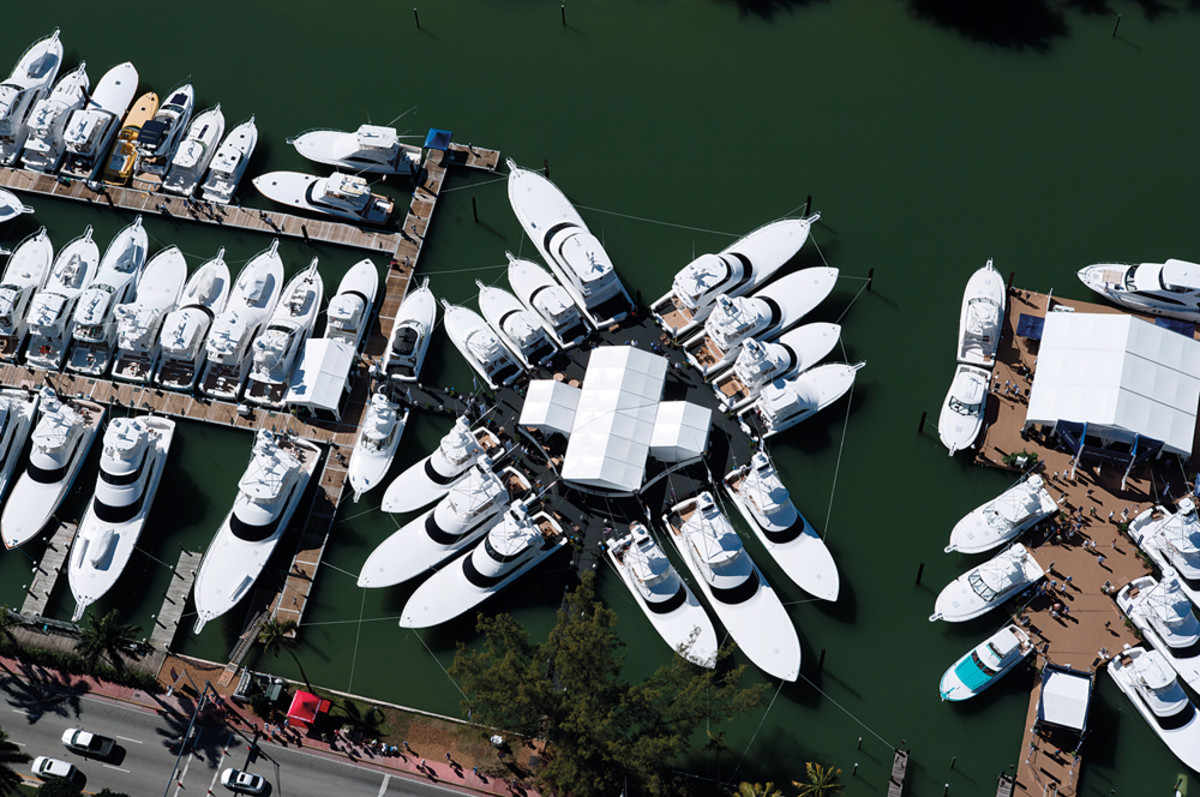 The number of new boats at the Yacth & Brokerage Show was up 54 percent, led by models under 79 feet.