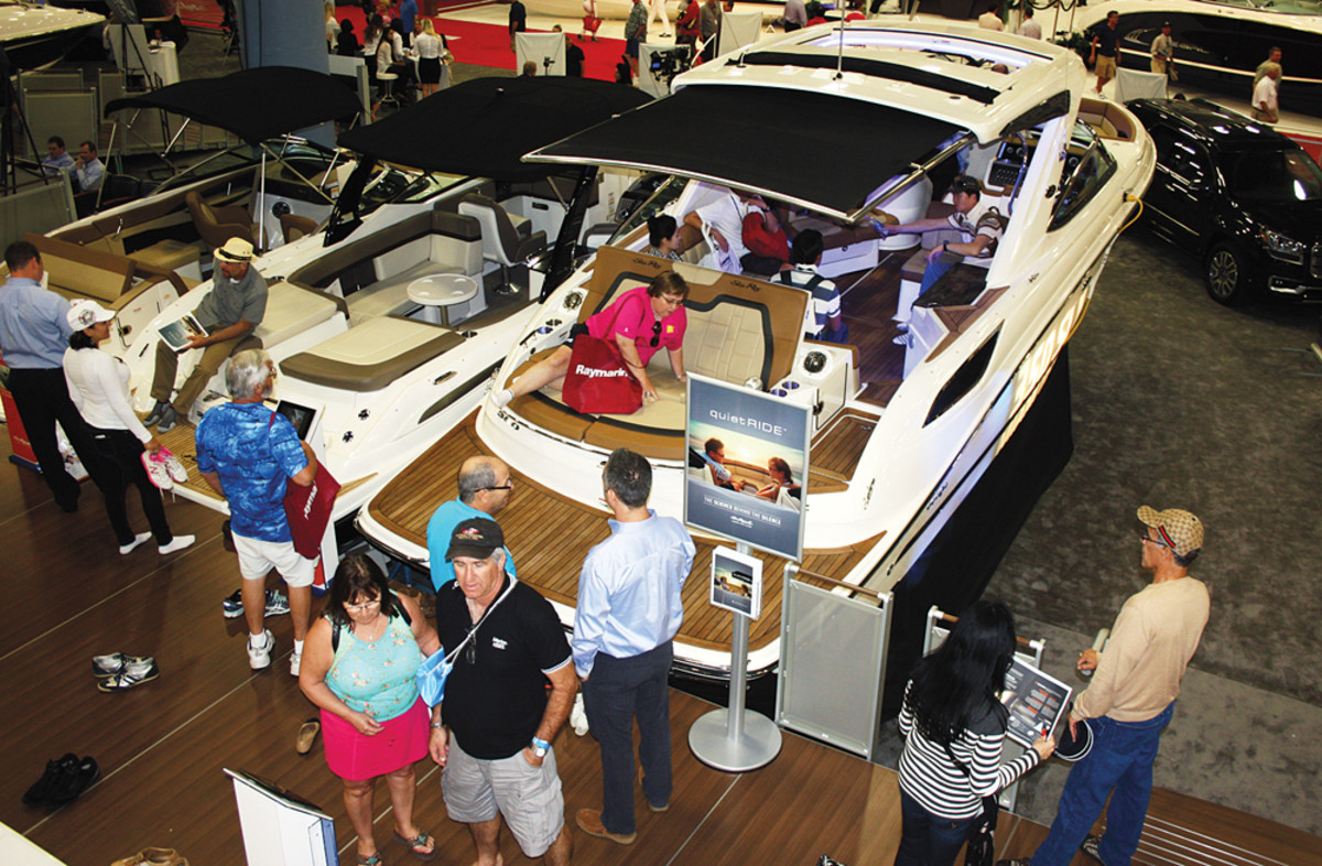 Exhibitors and potential buyers were drawn to new technology and innovation in their search for a new boat.