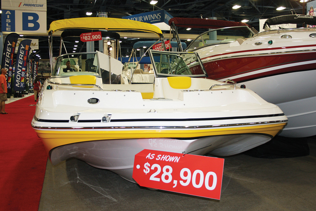 Affordable boats were clearly marked at the convention center.