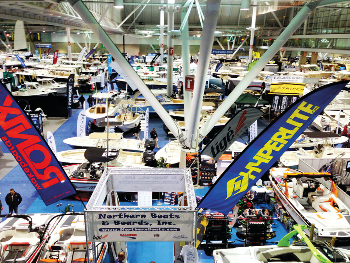 The New England Boat Show sold out of exhibition space. Organizers said attendance was up 8.5 percent.