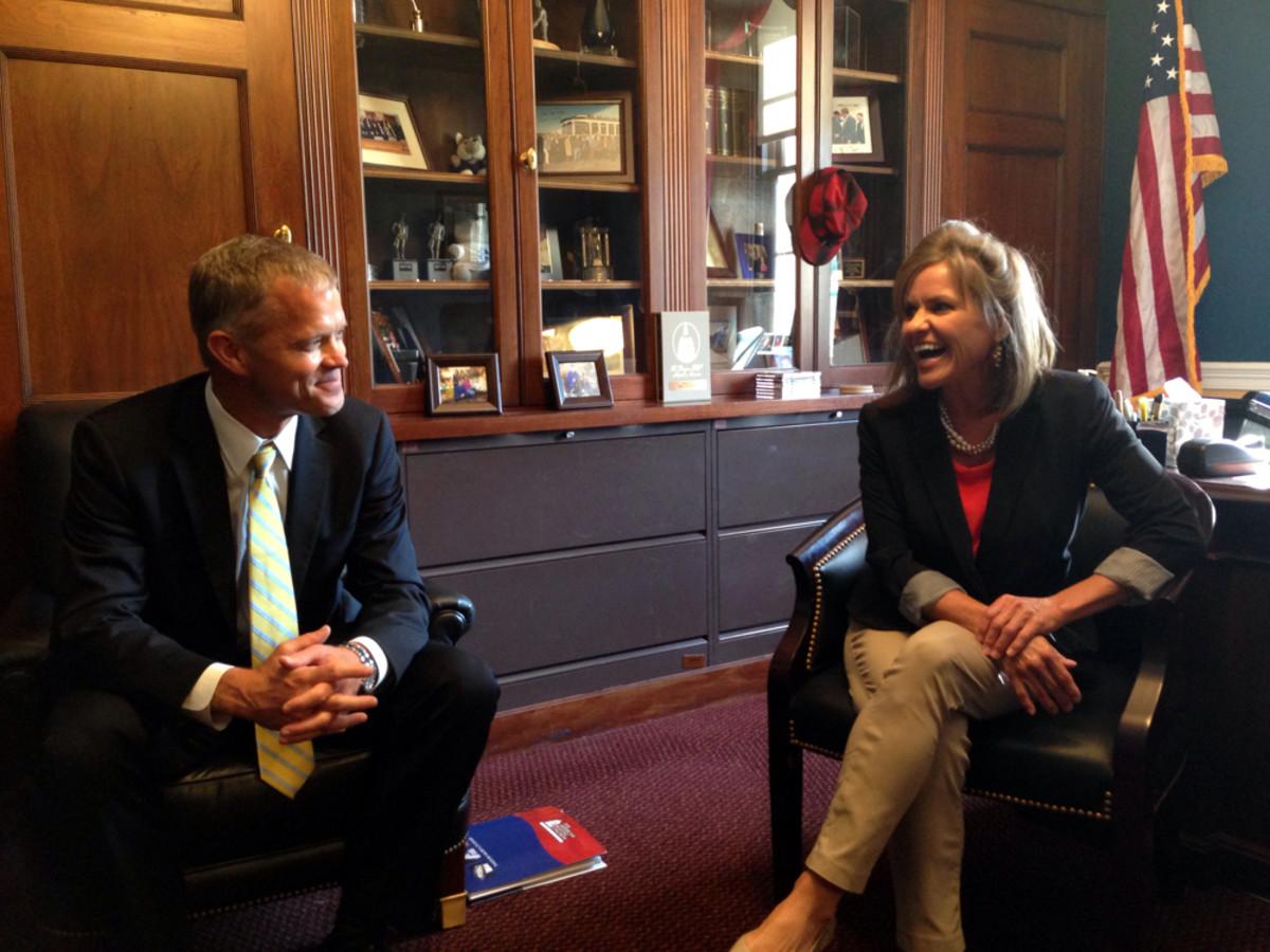 Cobalt CEO Paxson St. Clair meets Tuesday with U.S. Rep. Lynn Jenkins, R-Kan., in Washington.