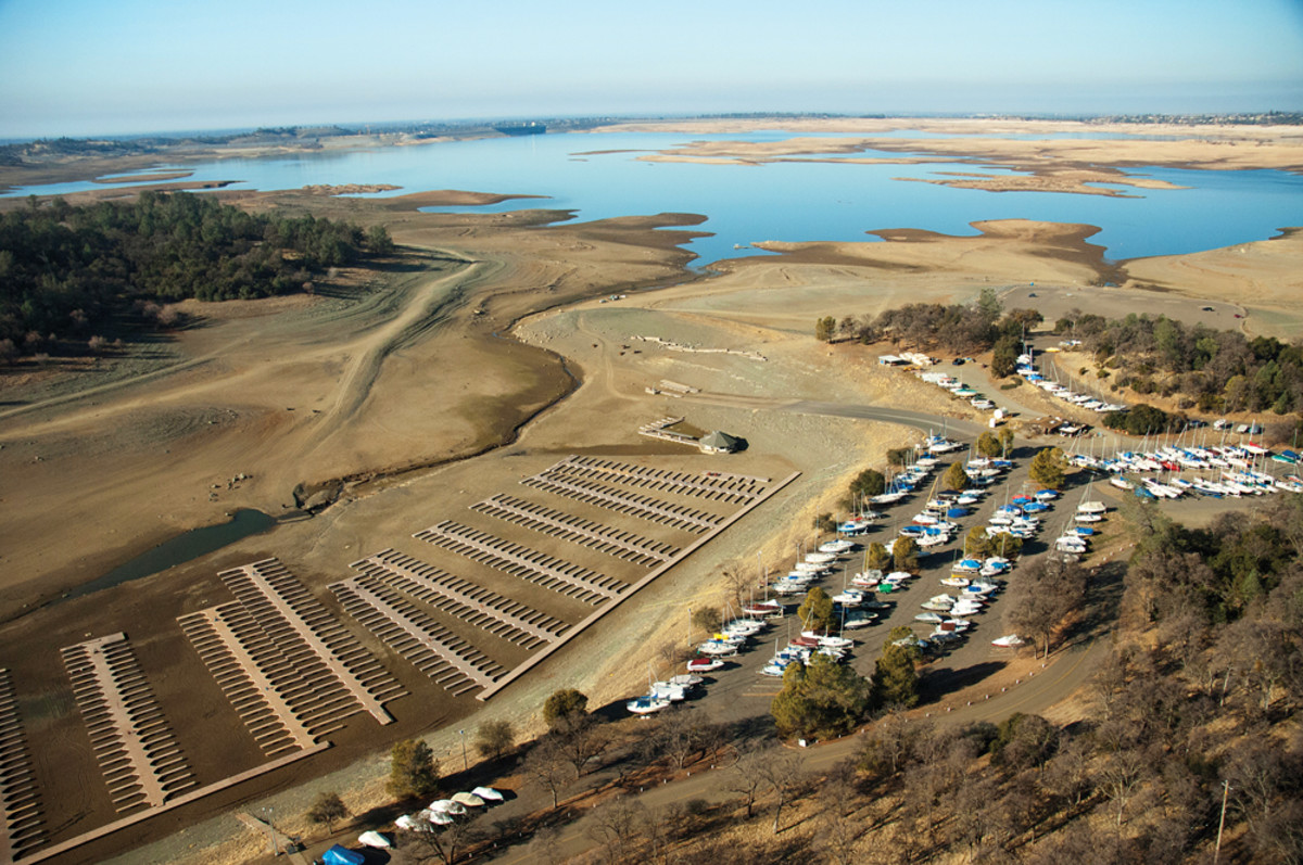 The water level on Folsom Lake, photographed on Jan. 16, was at just 36 percent capacity in early March.