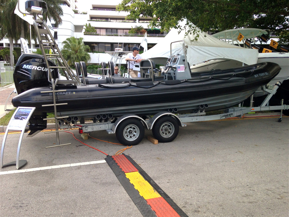 A Ribcraft on display at the recent Palm Beach International Boat Show.