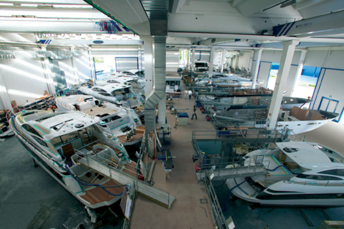 Larger companies such as Ferretti can capitalize on economies of scale.