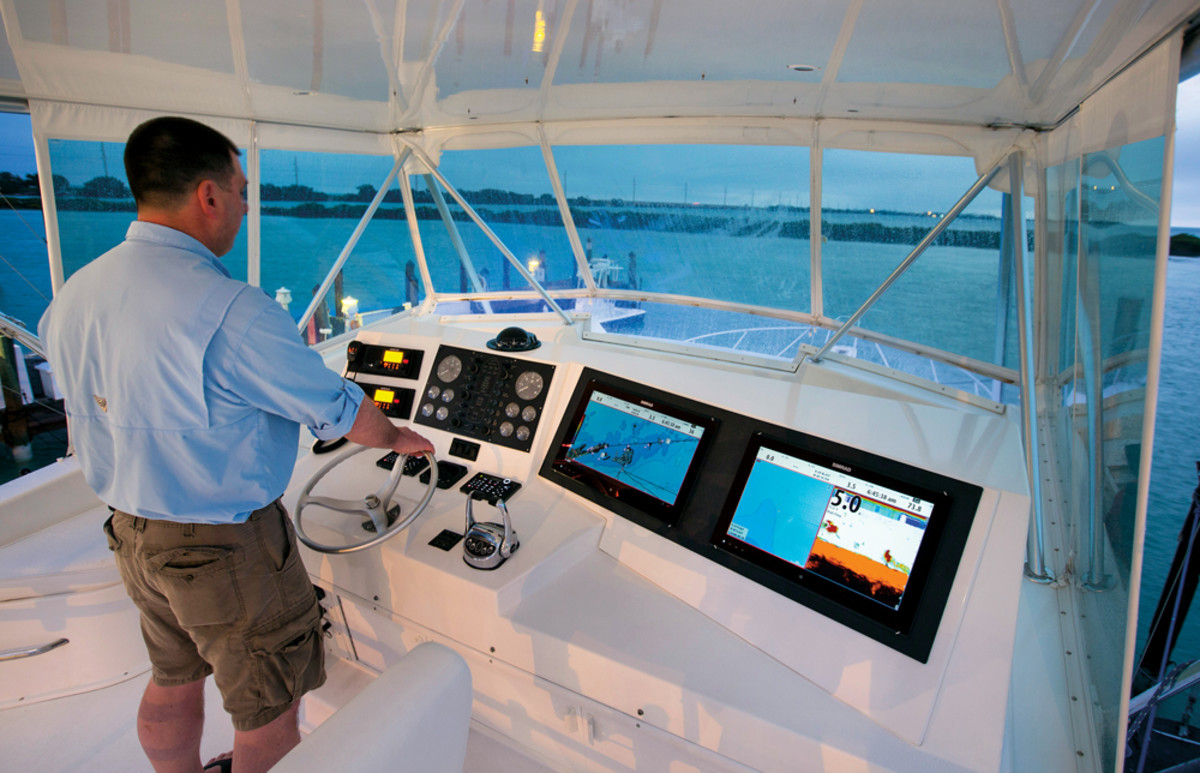 The glass bridge concept, such as Simrad's NSO evo with 16-inch touch displays, is proving popular on a range of boats.