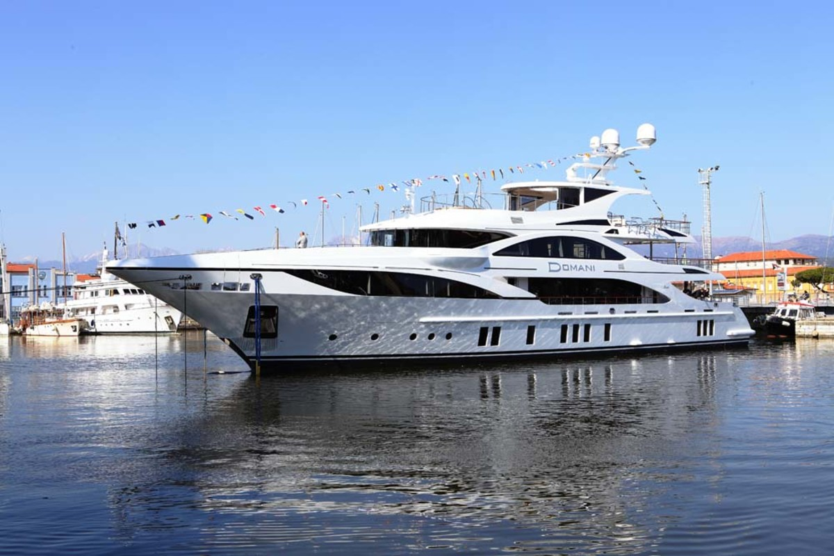 This 148-foot custom-built Benetti yacht will be delivered to its new owner in June.