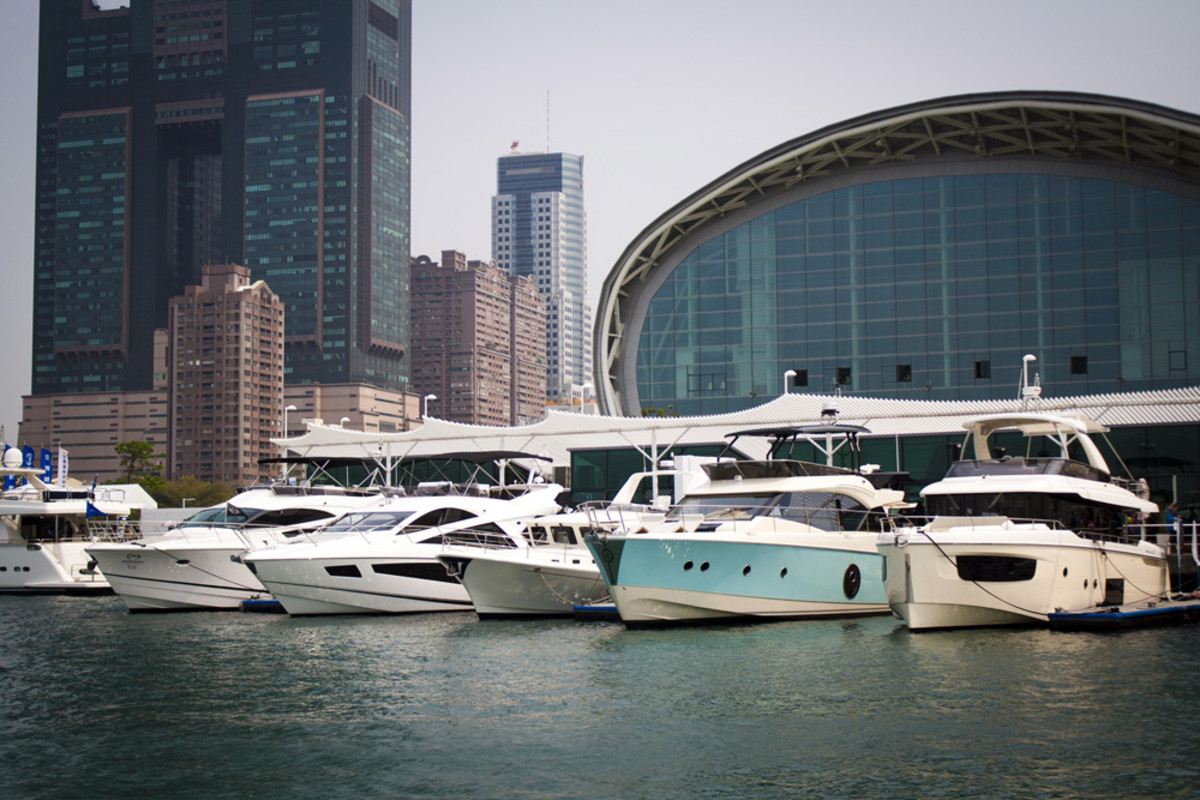 The Taiwan International Boat Show was held at a 290,000-square-foot indoor/outdoor exhibition center in Kaohsiung. Photo by Daniel Harding Jr.