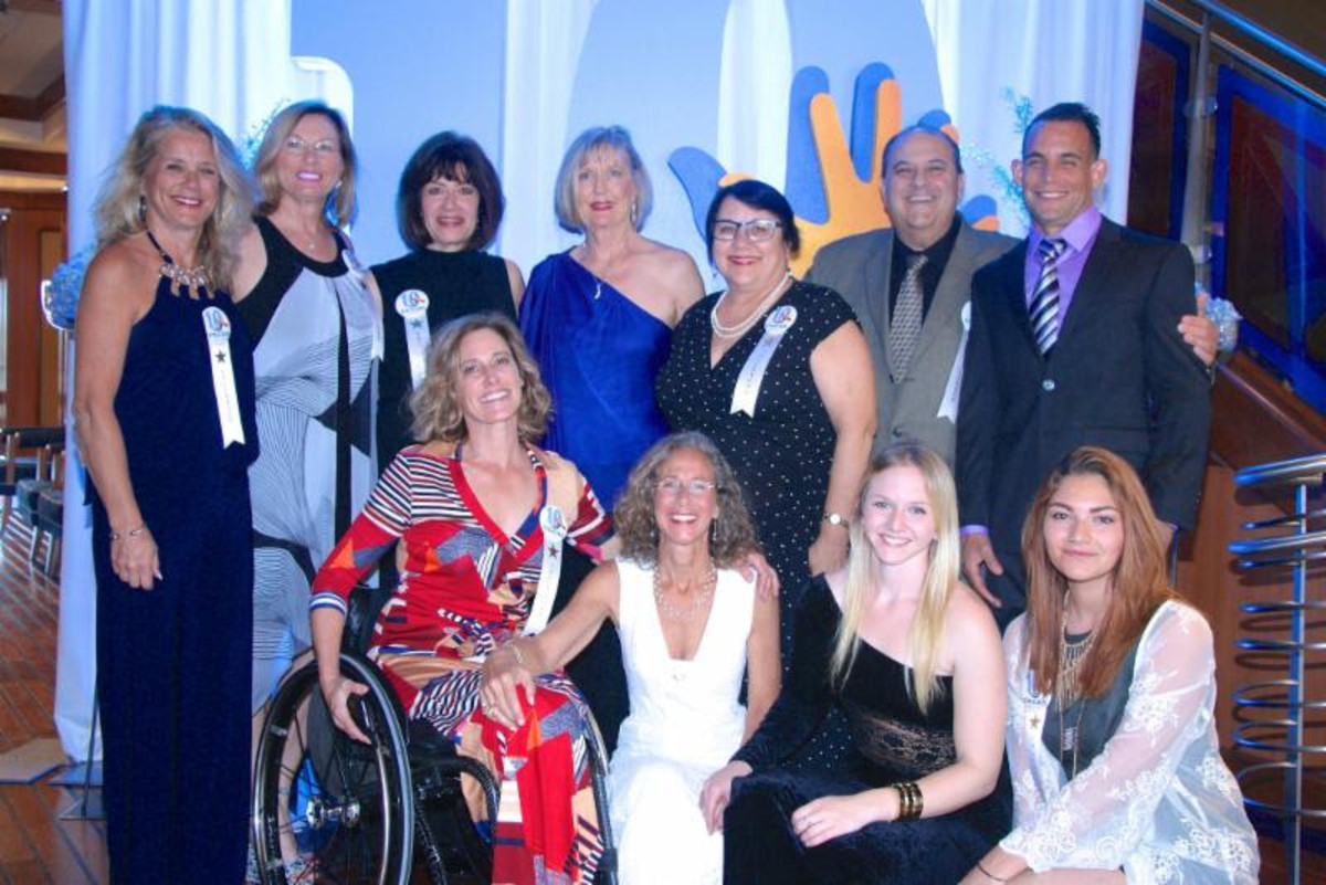 Judi Loisi (standing, left); Ann Klein; Lisa Salvucci; Kate Peterson; Bonnie Frenkel; Tracy Frenkel; and Rod Nieves are Freedom Waters Foundation volunteers. Seated (from left) are Julia Dorsett; co-founder and executive director Debra Frenkel; Claire Frenkel; and Gina Pacas.