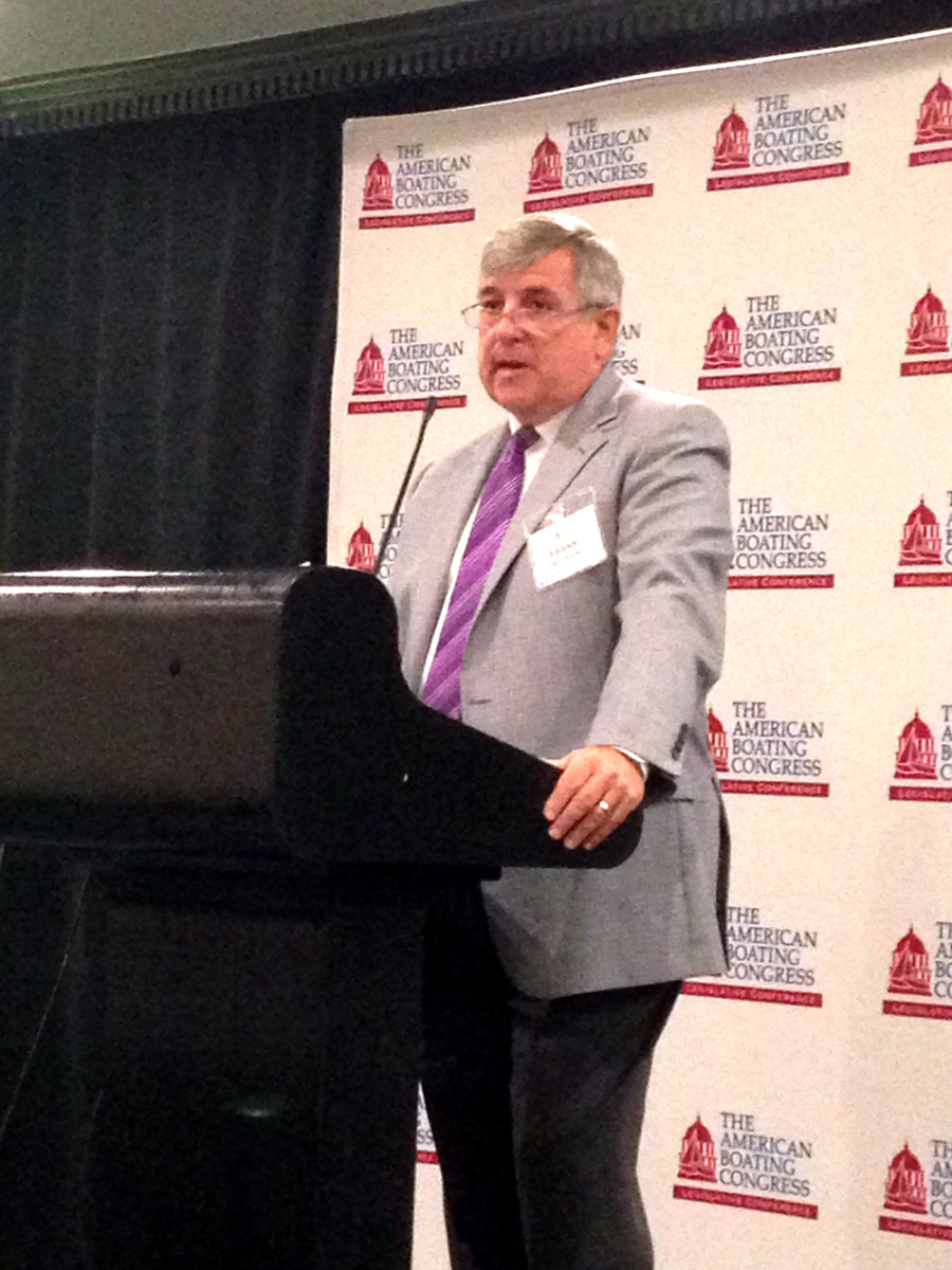 Recreational Boating and Fishing Foundation president and CEO Frank Peterson speaks Wednesday at the American Boating Congress in Washington.