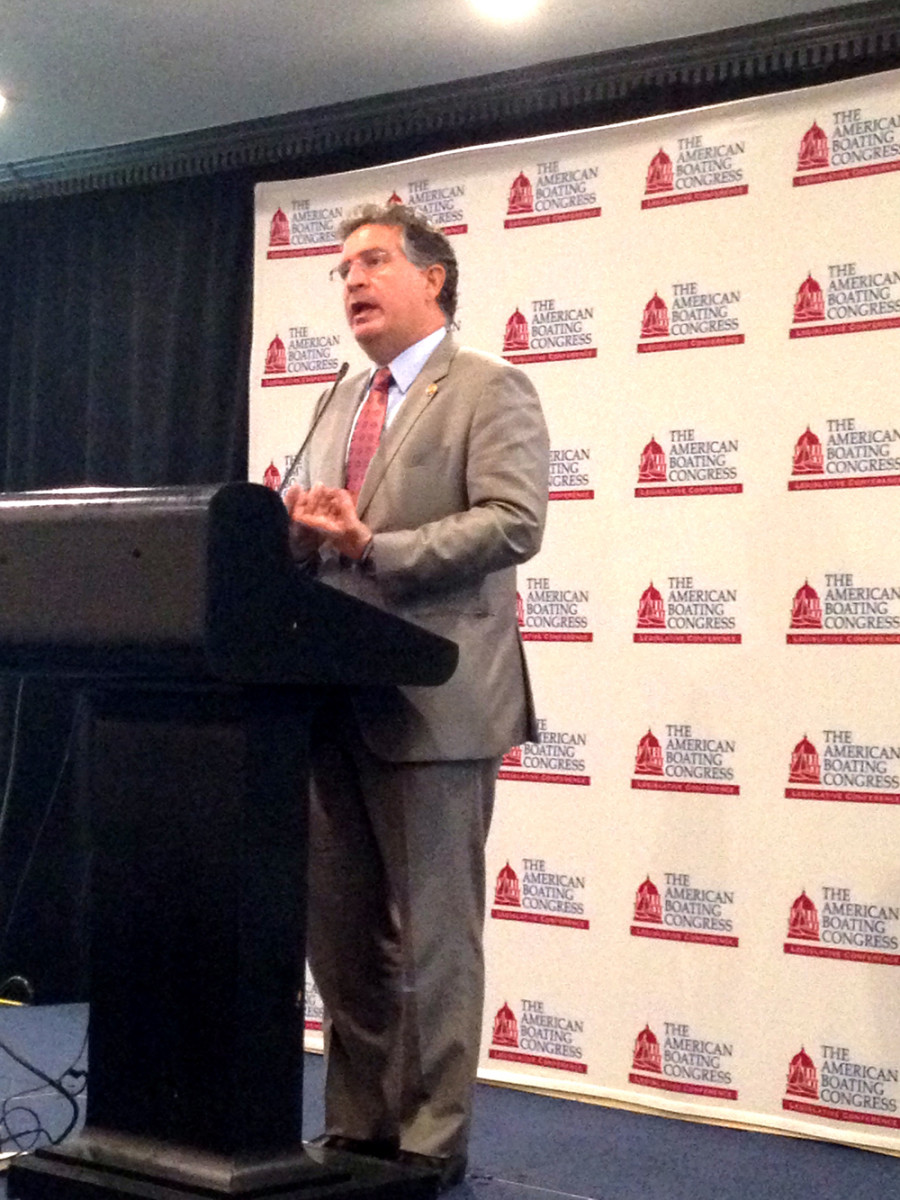 U.S. Rep. Joe Garcia, D-Fla., speaks Wednesday at the American Boating Congress in Washington.
