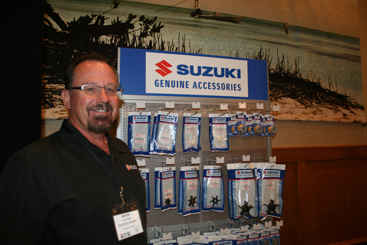 Suzuki vice president of operations Mark Eastman says engine kits and other new parts and accessories are part of the company's new emphasis on the marine market.