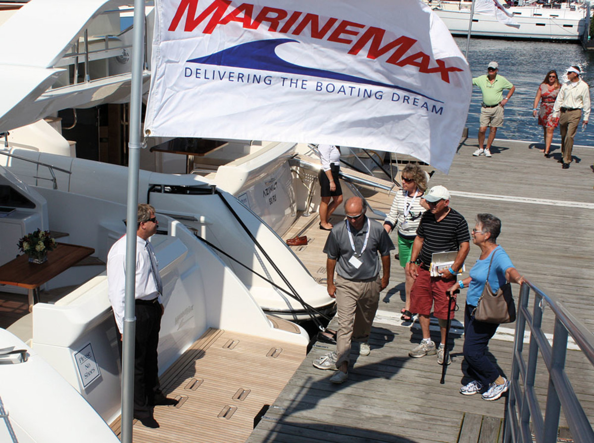 Persistently cold early-spring weather hurt sales at MarineMax and other dealers.