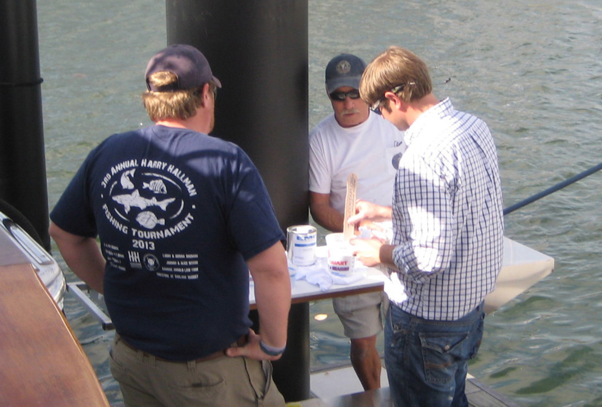 Martin and Boswell have visited dozens of boatyards to demonstrate the benefits of their coatings.