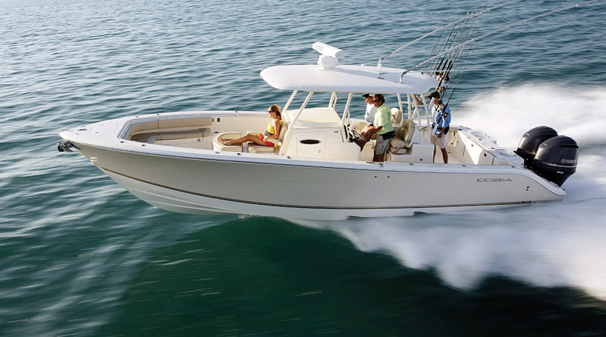 The Cobia 344CC was one of seven models that Maverick launched at its media event in Florida.