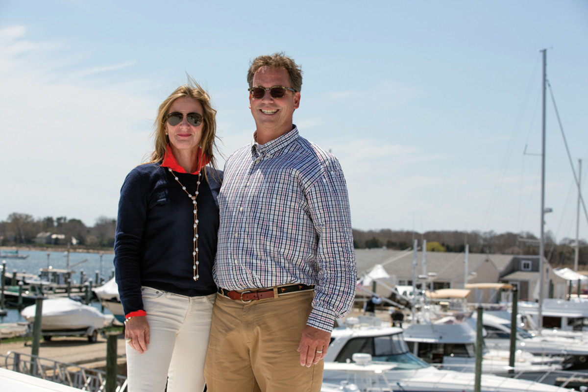 Dave and Jane Nolan own and run Cape Yachts in South Dartmouth, Mass., one of the company's three locations.