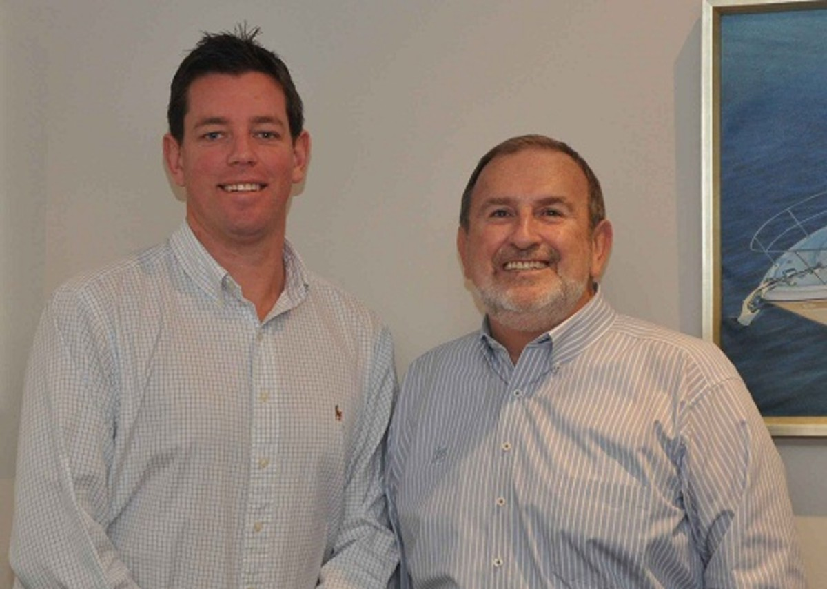 Will Sangster, left, will replace John Temple as Mercury Marine's Australia, New Zealand and Pacific general manager.