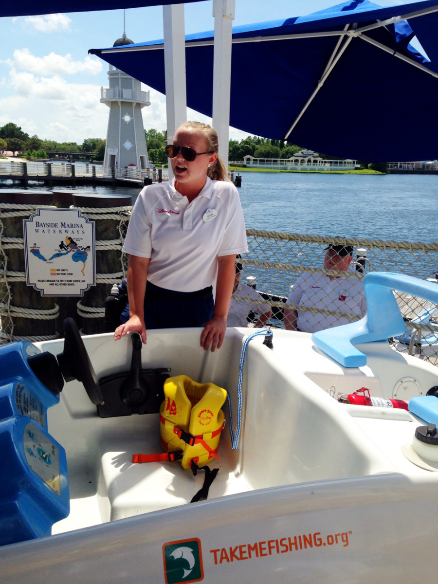Sea Raycers are two-person, self-driven boats that guests at Disney World can rent.