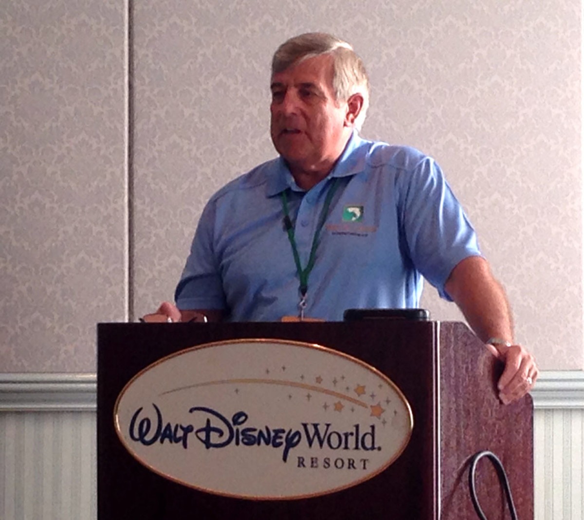 Recreational Boating and Fishing Foundation president Frank Peterson discusses the partnership between the foundation's Take Me Fishing campaign and The Walt Disney Co. Wednesday at Disney World in Orlando, Fla.