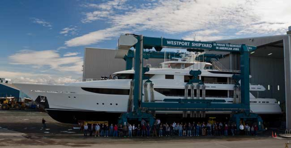Hull No. 12 of Westport's flagship 164-footer was launched this year.