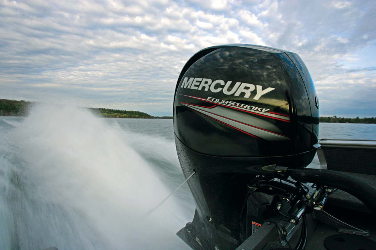 The 455-pound 3-liter, 4-cylinder Mercury 150 FourStroke can be sold in a variety of boat markets.