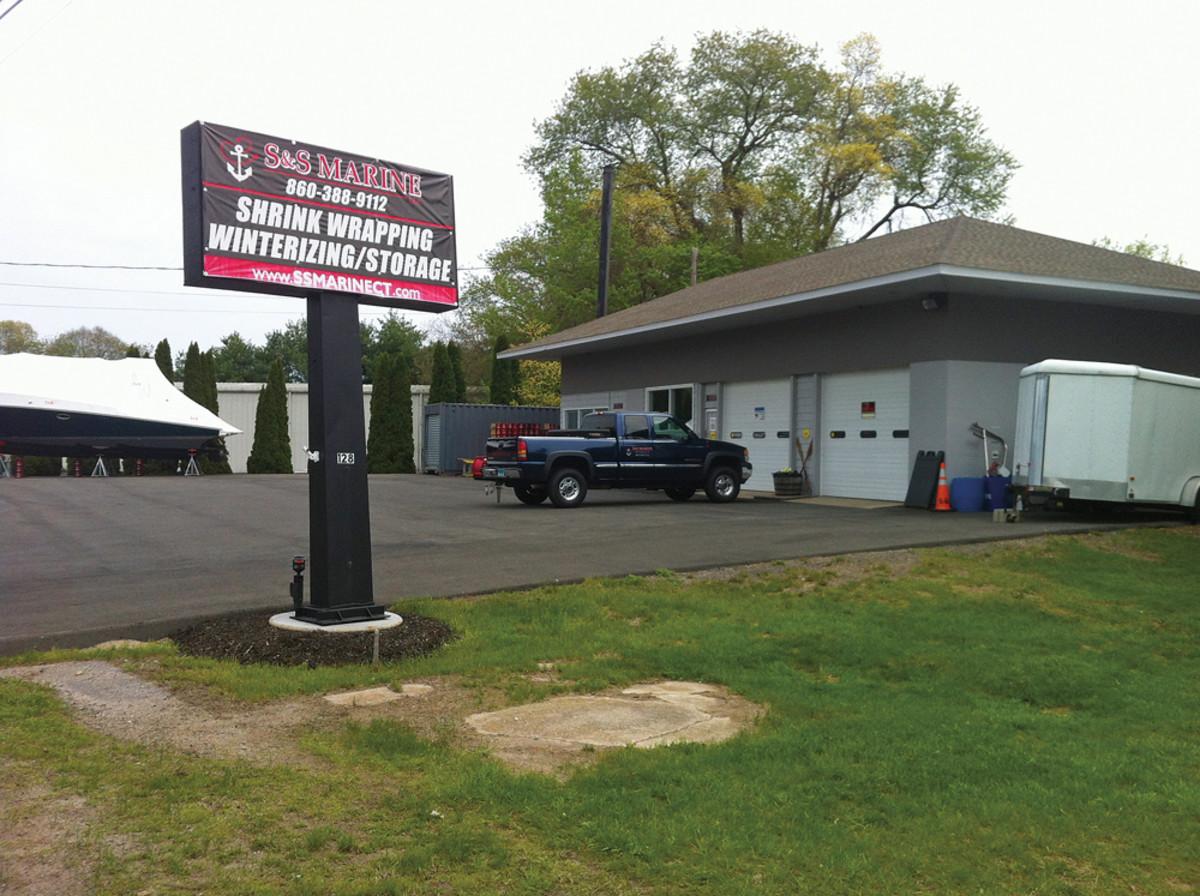 The headquarters is inside a renovated former roadside automotive shop.