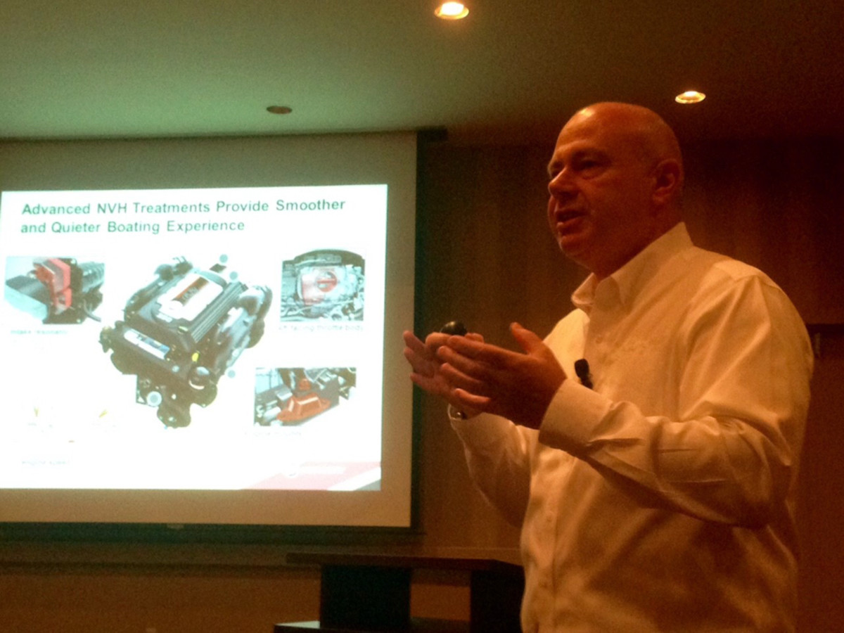 Mercury Marine VP of product development, engineering and racing David Foulkes talks about the company's new MerCruiser 6.2L V8 sterndrive engine.
