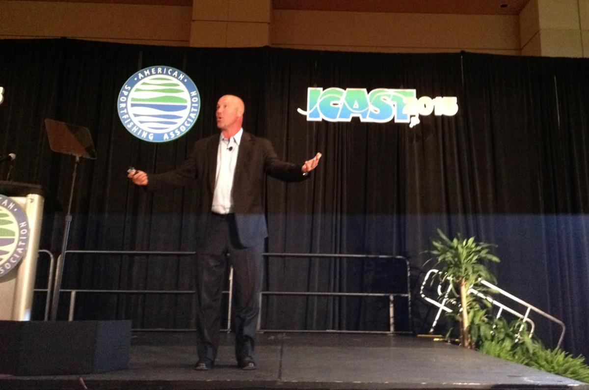 Jacksonville Jaguars coach Gus Bradley was the keynote speaker at the industry breakfast.