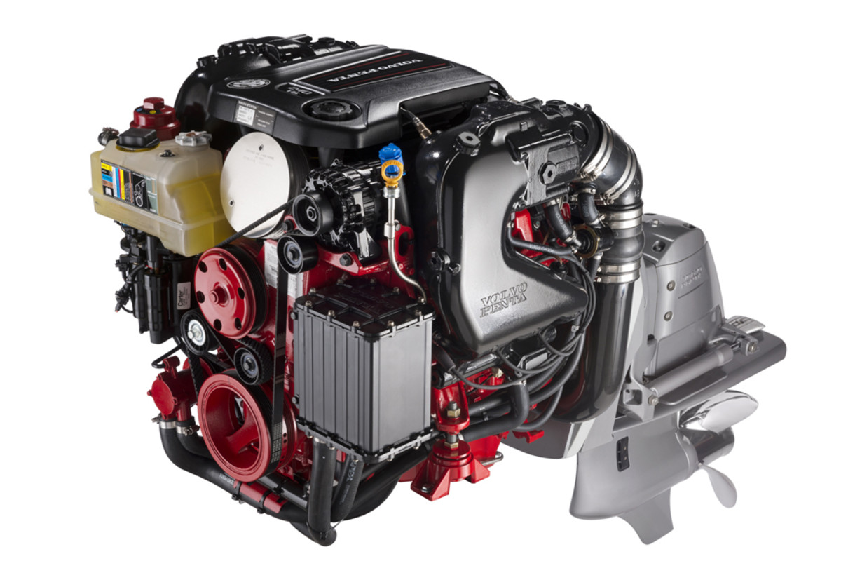 Volvo Penta will soon bring to market a 200- and 240-hp V6 gasoline sterndrive built with the fifth generation of General Motors engines.