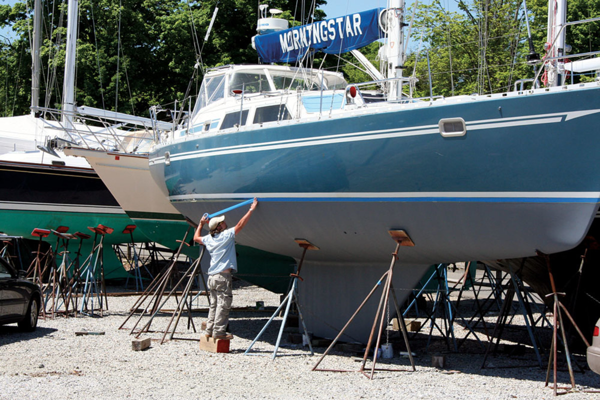 Marina operators face a constant challenge to ensure that painting and other maintenance activities in their yards are not violating environmental regulations.