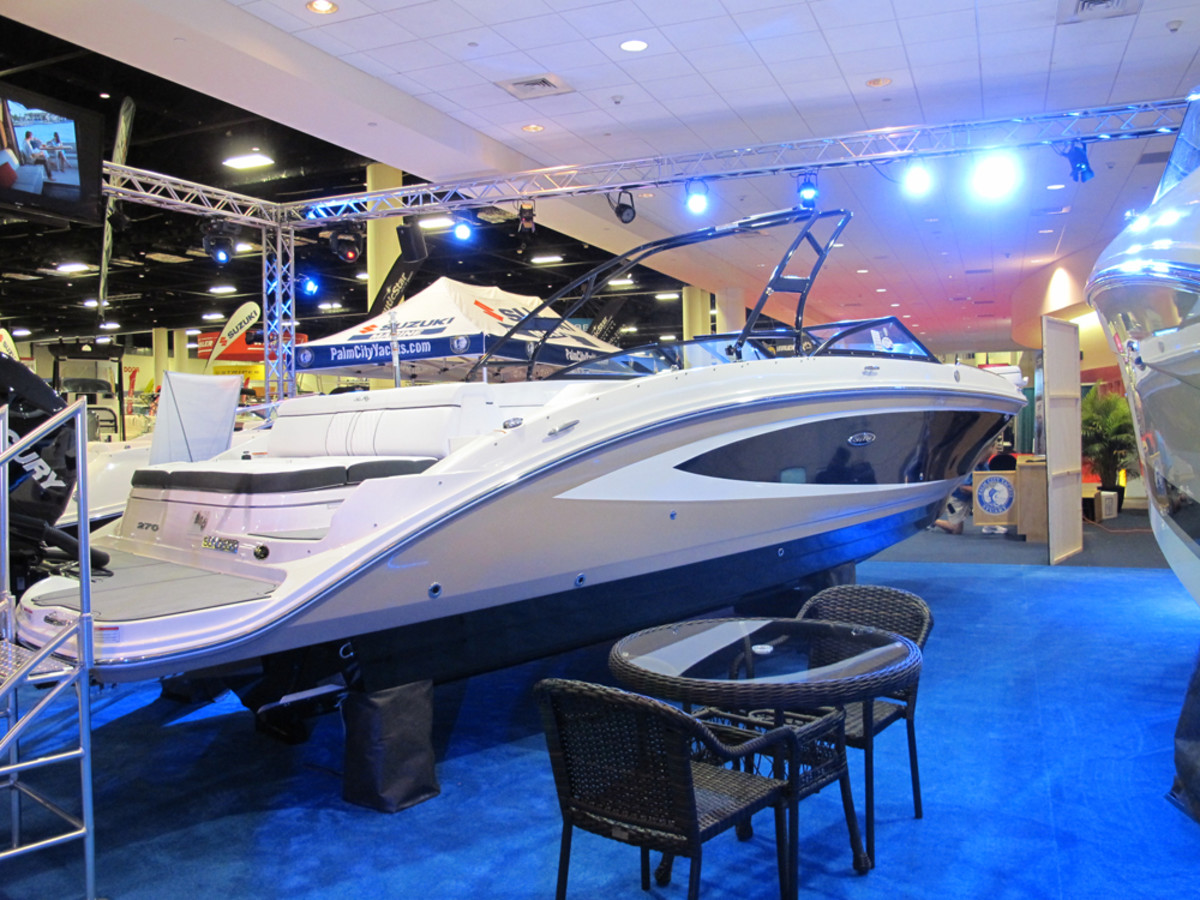 Sea Ray's SPX series is available in the 19-foot model above and a 21-footer.