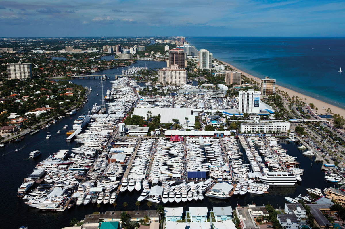 The big boat show takes over the city during its annual run.