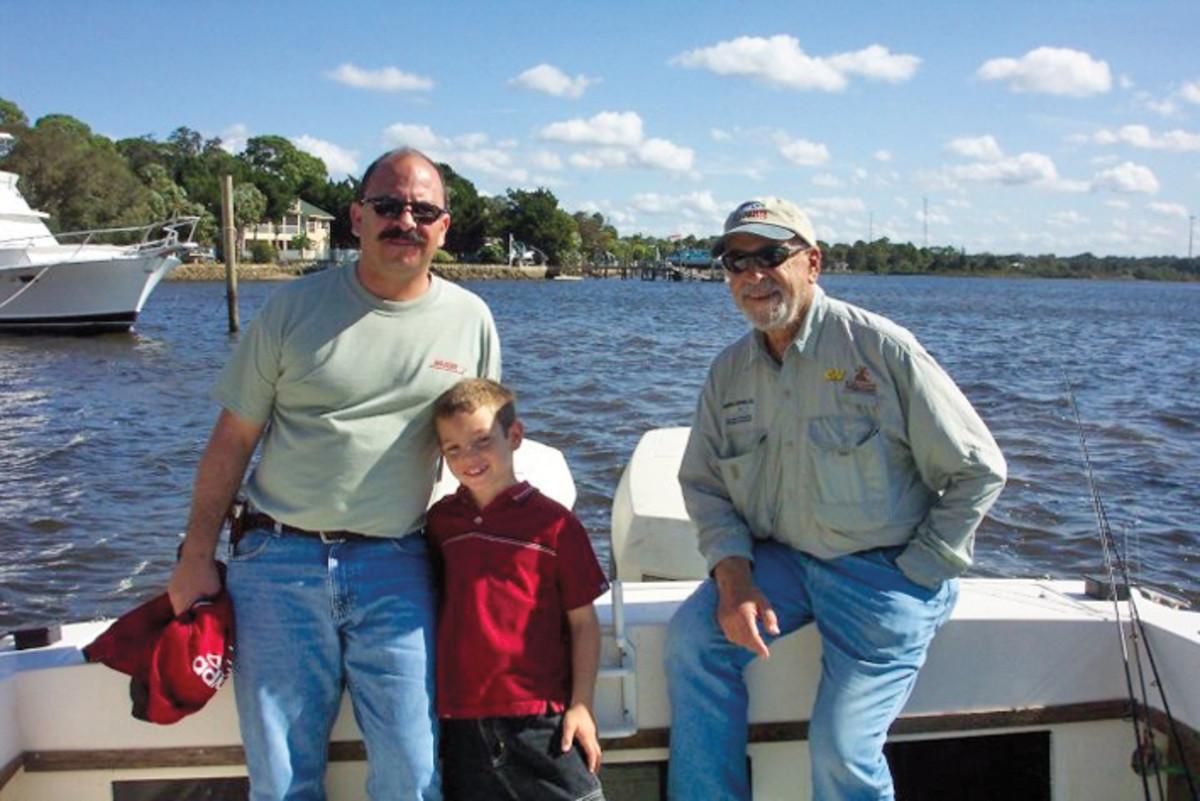 THREE GENERATIONS (from left): Ron Berman, son Matt and father Mel.
