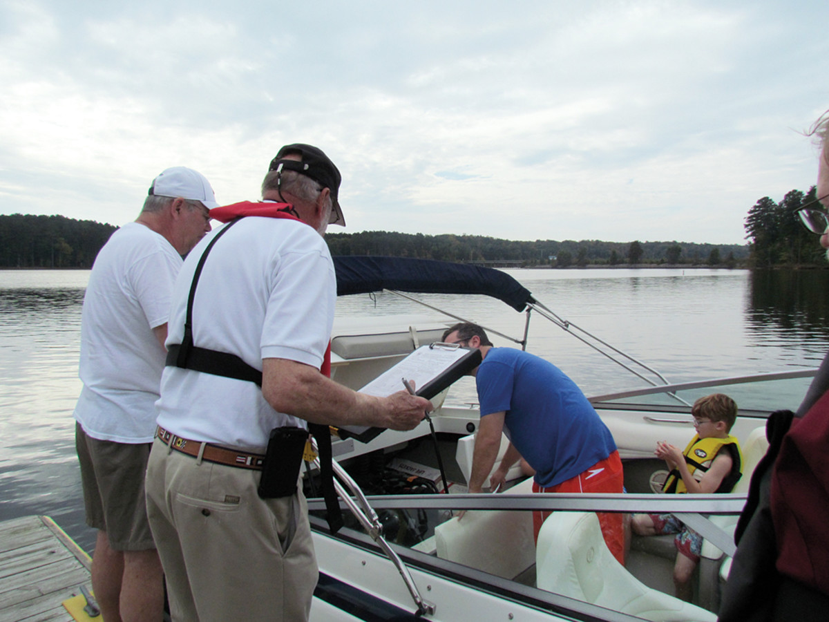 Boating safety inspections have long been an important part of the Power Squadrons' mission.