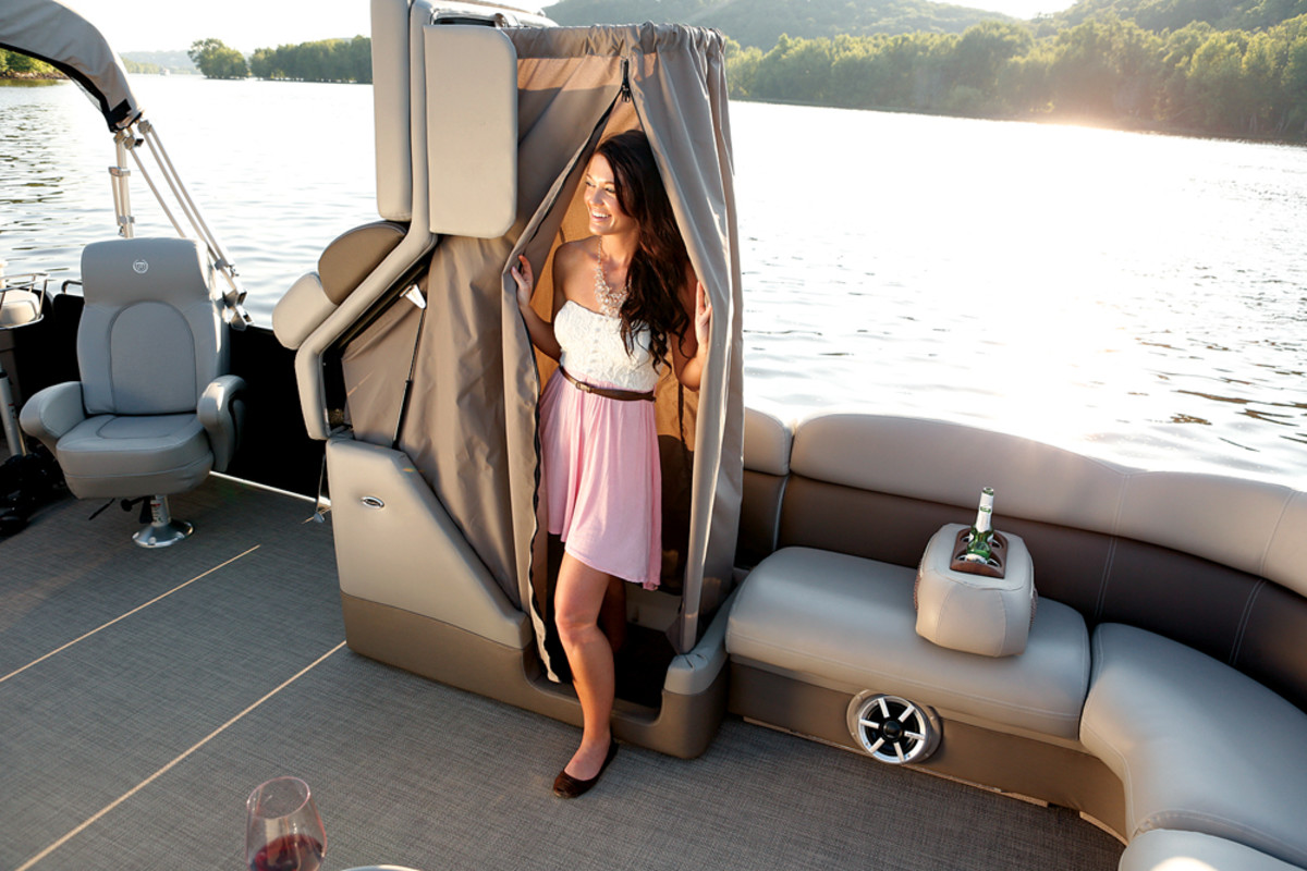 Today's pontoon boats have more amenities than their predecessors, making them more attractive to younger families.