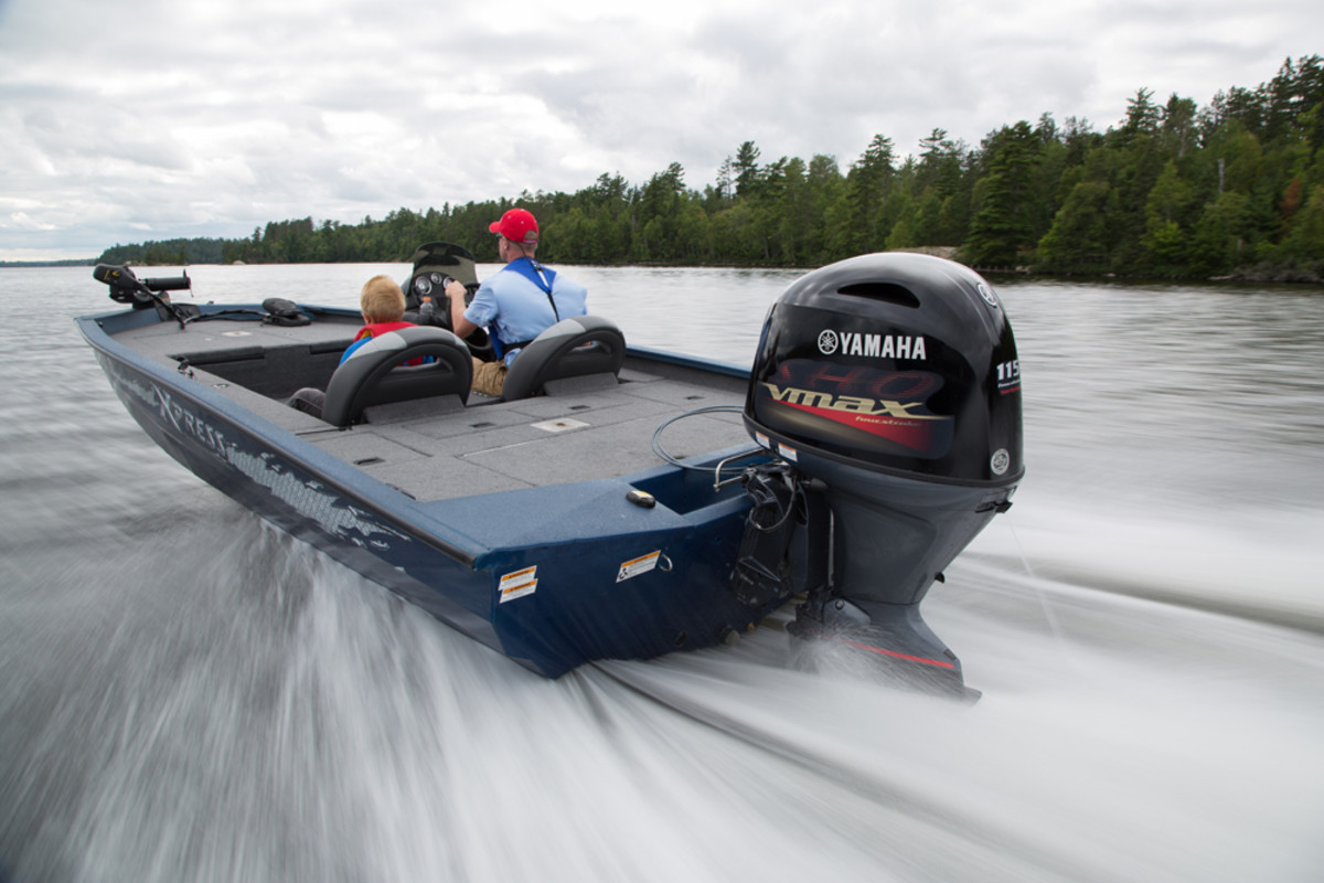 The Yamaha V MAX SHO 150 is one of four models Yamaha introduced Thursday night at a special media event in Tennessee. Journalists will test the engines today on 14 boats at the Yamaha Test Center in Bridgeport, Ala.