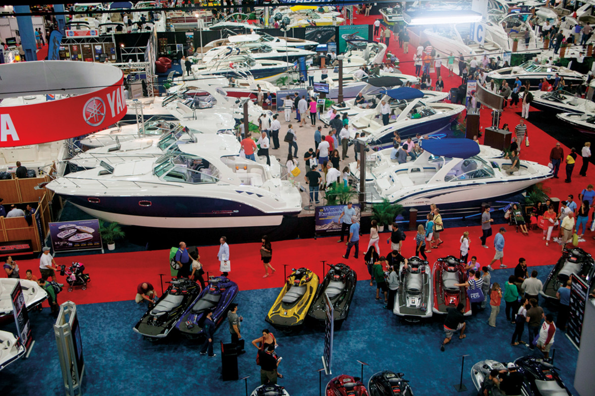A new layout will enable more boats to be displayed on the main floor of the Miami Beach Convention Center this year.