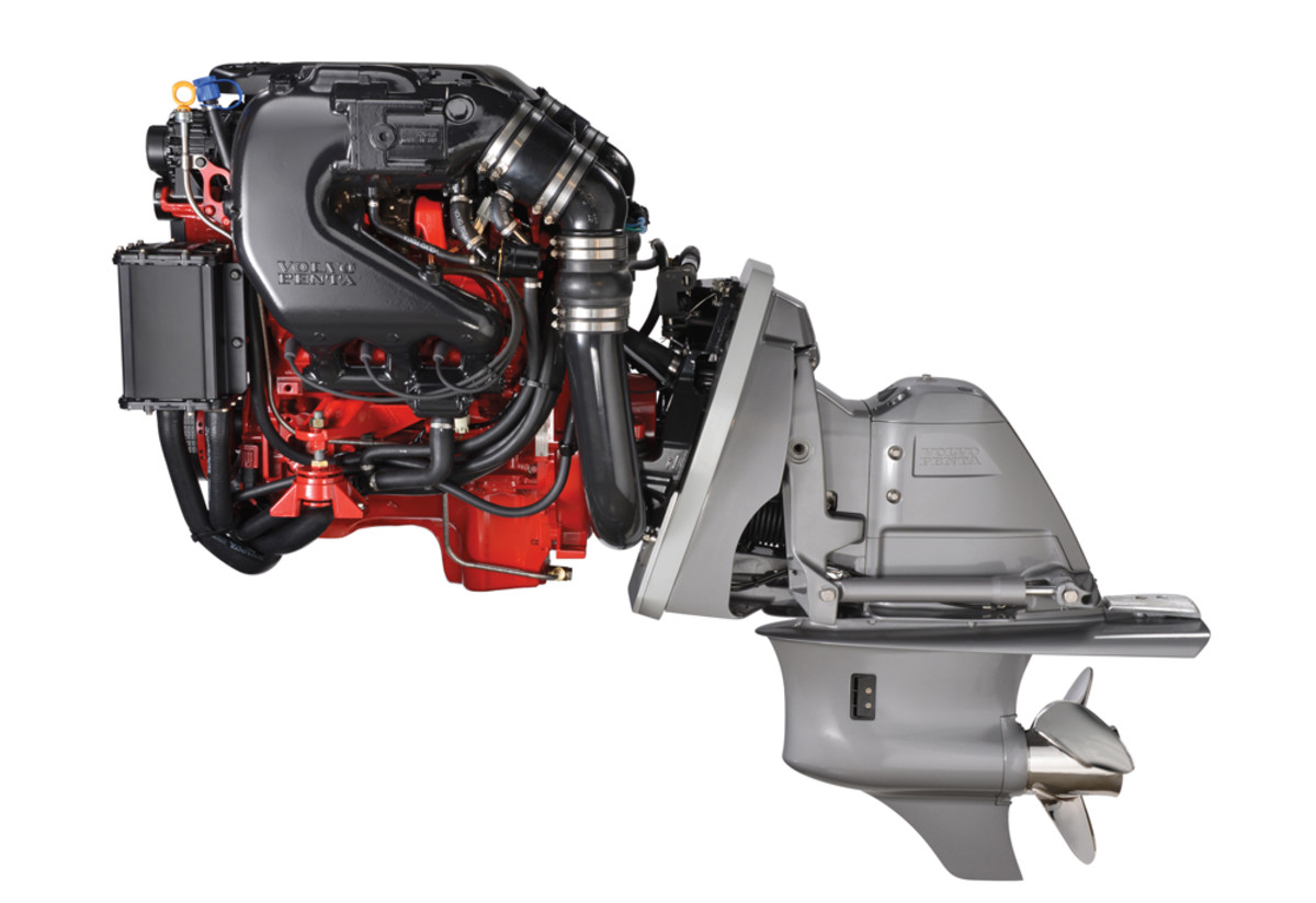 Volvo Penta began rolling out its General Motors Gen V gas sterndrives in late 2014. This is the 240-hp Gen V package. Other models will follow this year.