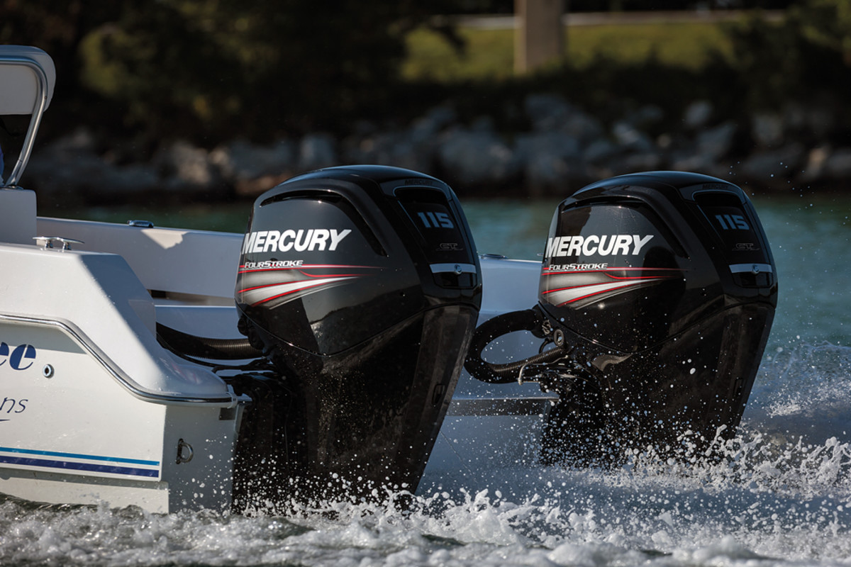 Mercury's 363-pound 115 FourStroke hit the market last year. New engines are expected in Miami.