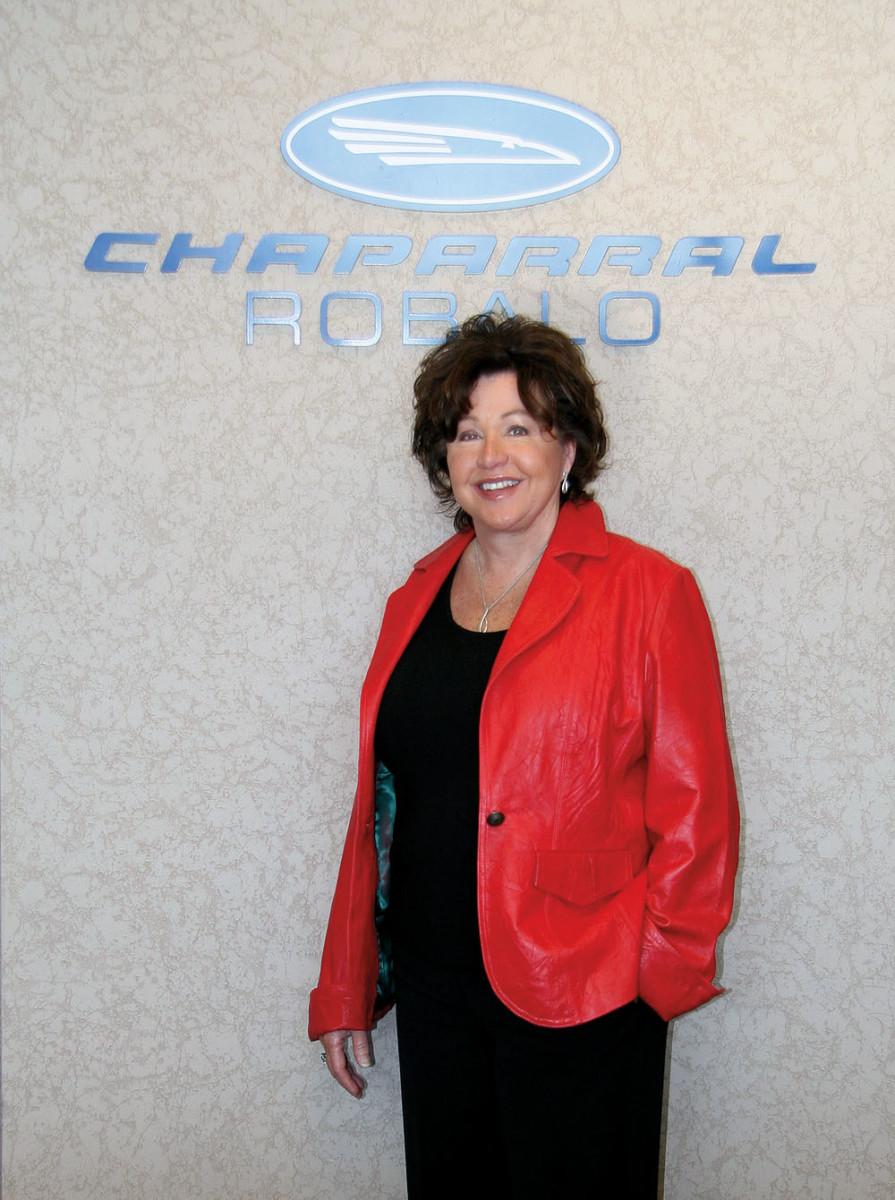 Chaparral/Robalo vice president Ann Baldree.