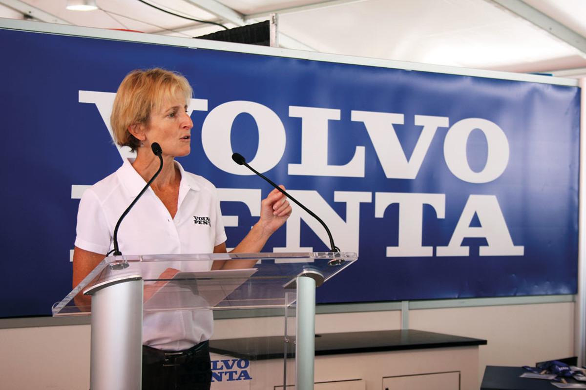 Volvo Penta vice president of marine sales Marcia Kull.