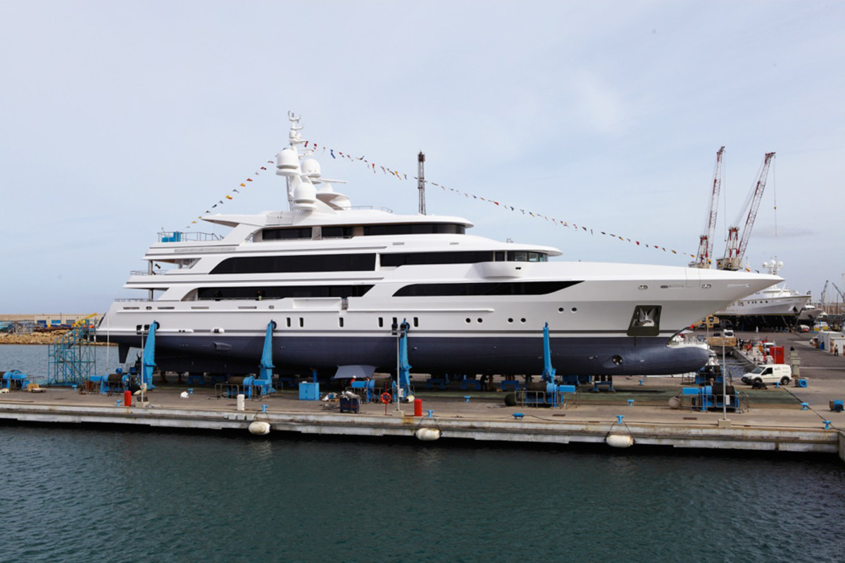 Benetti's FB264 is a 209-foot highly customized aluminum yacht that was recently launched at a yard in Livorno, Italy.