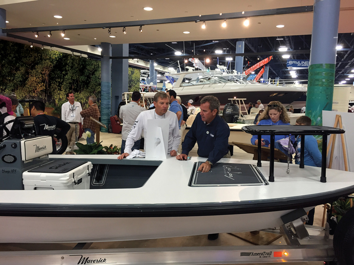 The Cobia 277 made its debut at the Miami boat show in February.