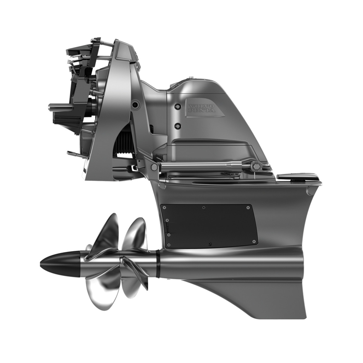 Volvo Penta's Forward Drive for sterndrives has dual front-facing props.