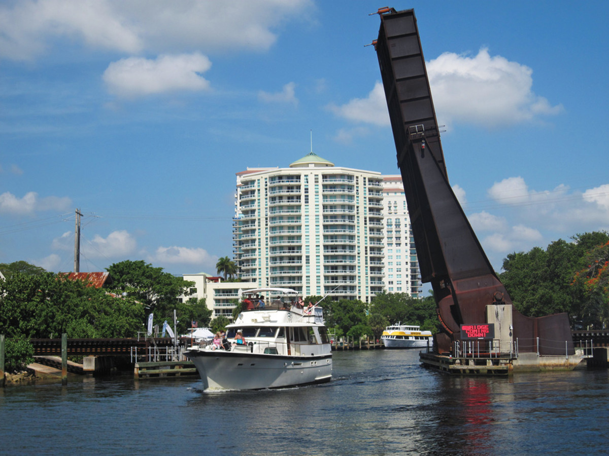 South Florida marine businesses and pleasure boaters are vehemently opposed to a passenger train expansion that would keep rail bridges such as this one on the New River closed - and impassable - much more often.