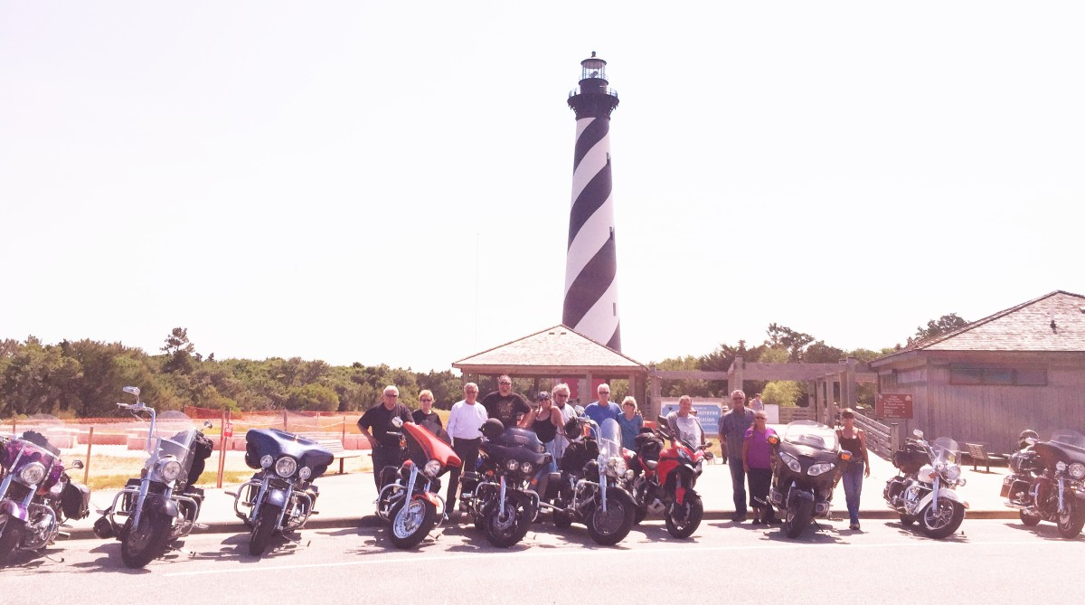 The historic lighthouse at Cape Hatteras was a favorite tour stop.