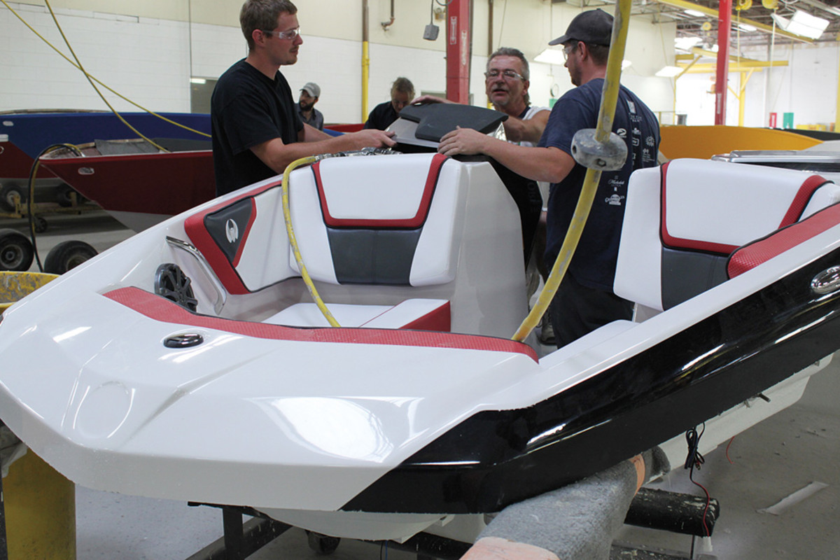 """Rec Boat's Scarab line now includes jetboats that Lambert says """"perform like go-karts on the water."""""""