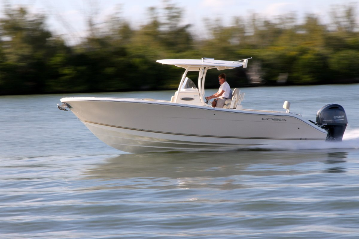 Maverick launched the Cobia 277 center console at the Miami show.